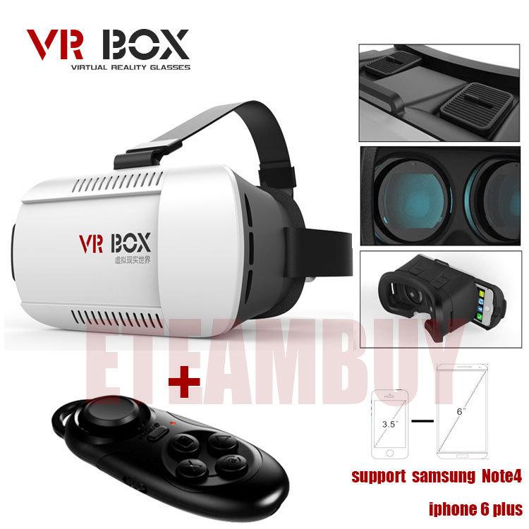2015 Google cardboard VR BOX Version VR Virtual Reality Glasses + Smart Bluetooth Wireless Mouse / Remote Control Gamepad(China (Mainland))