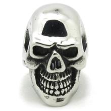 Mens Boy 316L Stainless Steel Cool Punk Gothic Newest Polishing Skull Ring Hot saling