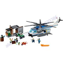 2016 City Police Helicopter Surveilance Minifigures 528pcs/set Building Blocks Figures Toys Compatible For gift