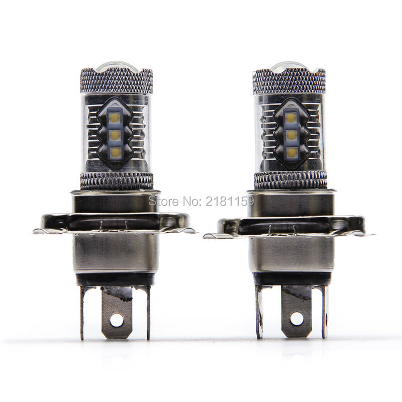 1Pcs New! High power H4 80W cheap LED Fog Lamp Bright Projection Car Fog Light Auto DRL Driving Headlight Bulb for Honda(China (Mainland))