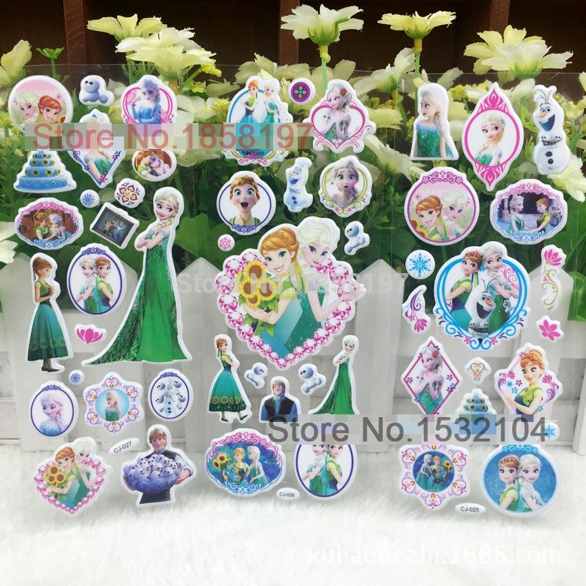 Лед снег принцесса стены 3D снежная королева пена наклейки для детей фестиваль подарков декор наклейки детские