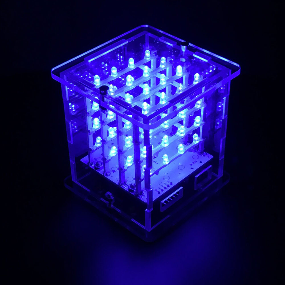 2016 NEW! keyestudio 4x4x4 LED Cube Kit with Arduino+ User Manual