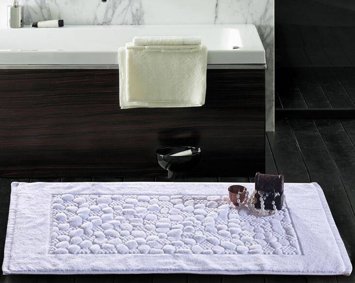 100% Cotton Bath Towel Jacquard design Thick High Quality Towels Bathroom /Hotel White Color Bath Mat(China (Mainland))