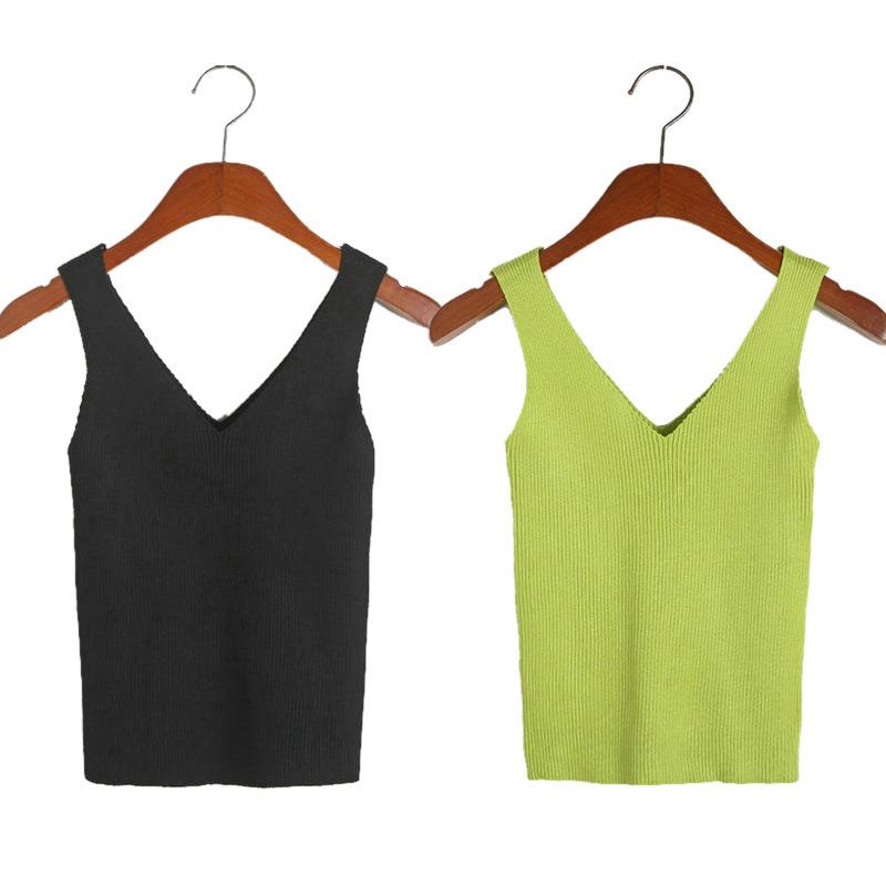 Free Knitting Pattern Ladies V Neck Vest : 2015 new fashion ladies knitwear,Knit vest , Basic casual ...