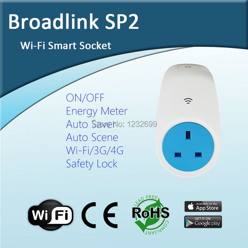 UK Standard BroadLink SP2 Smart Home Automation System Top Quality Easy-Setup Wireless Wi-Fi Socket Remote Control IOS Android<br><br>Aliexpress