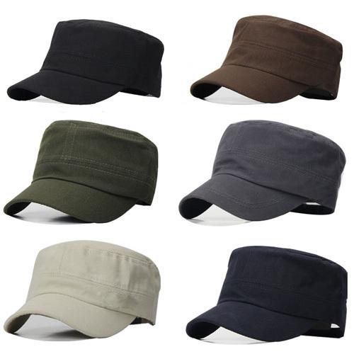 5 colors free size classic plain vintage army hat cadet