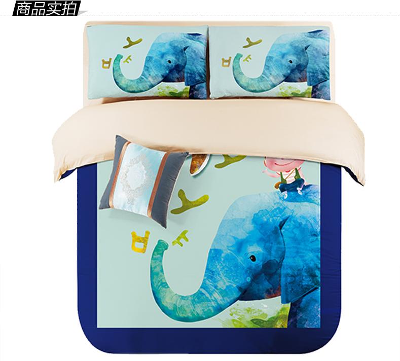 NEW!!Bed in bag designer Bedding Sets kids boy elephant ...