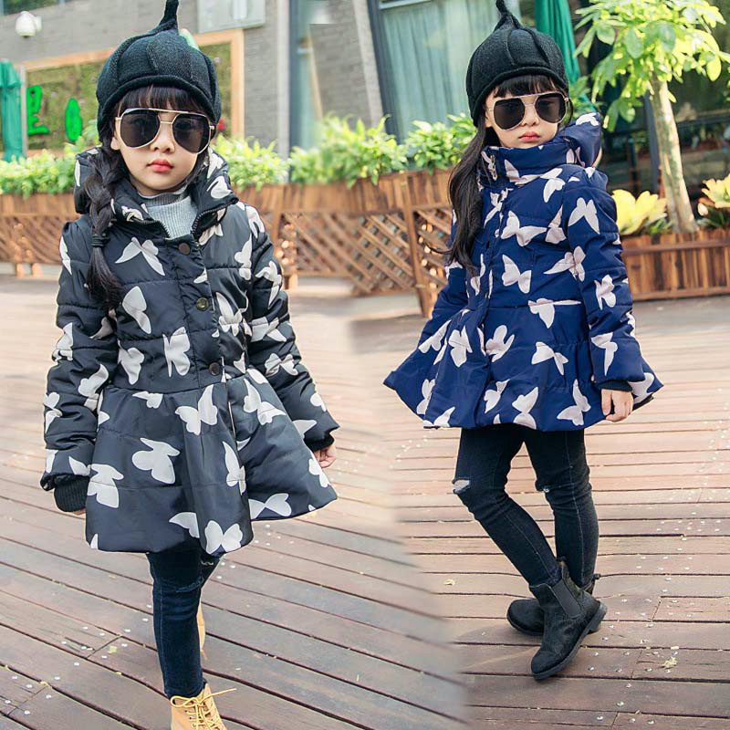 Vogue Design 4-16years Baby Girl Character Print Girls Winter Hooded Coat Girl Tunic Ring Coat<br><br>Aliexpress