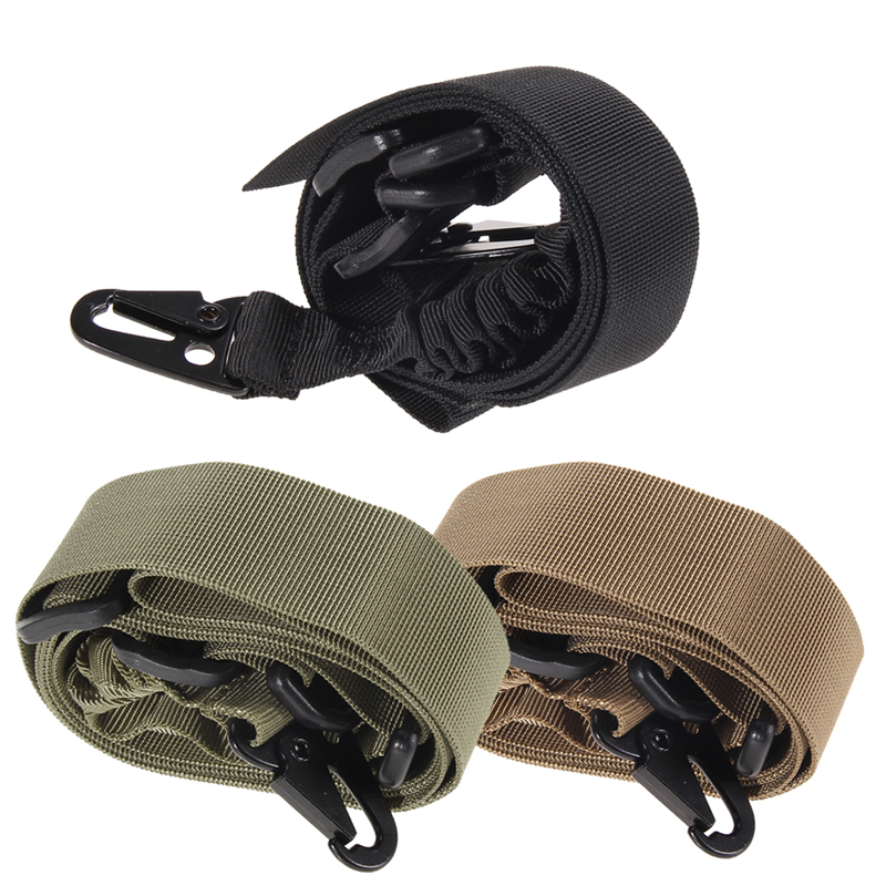 2 Points Sling, Bungee Cord with H&K Style Hook, Desert Tan Free shipping #gib(China (Mainland))