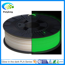 glow in the dark green 3D Printer Filament PLA filament 1.75mm 3mm 32 colors 1kg spool