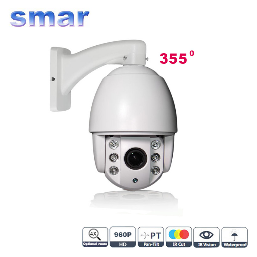 960P Mini PTZ IP Camera Outdoor 4X Zoom 1.3MP HD Network IP CCTV Speed Dome Camera With IR-CUT Support Onvif P2P Mobile Monitor(China (Mainland))