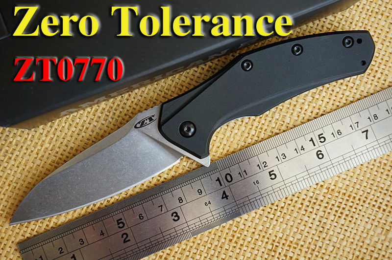 OEM zero tolerance Rexford ZT0770 flip ELMAX blade folding knife aluminum handle outdoor camping hunting tactical knife EDC tool(China (Mainland))