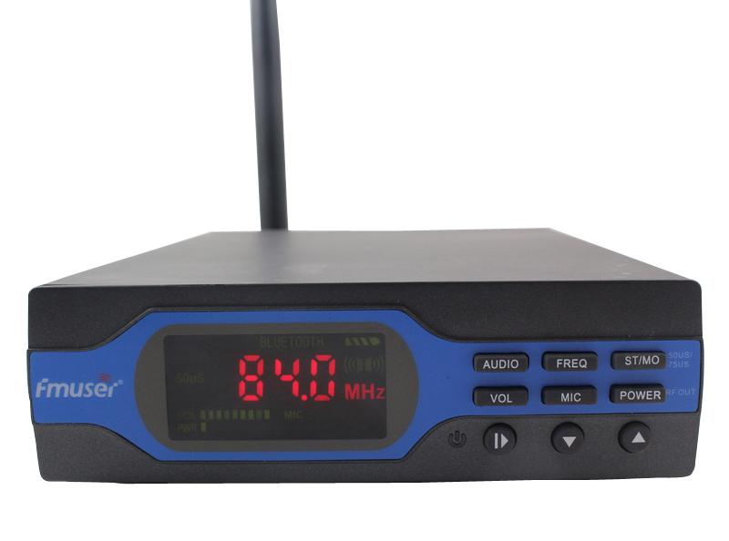Фотография 5pcs/lot  NEW 1W FM PLL radio broadcast transmitter 76-108mhz with PS antenna kit