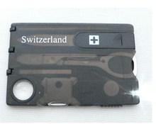 10 unids/lote Swizerland 12 en 1 tarjeta de crédito hoja del cuchillo herramienta cuchillo tarjetas de visita tarjeta de venta al por mayor envío gratuito, Dropshipping