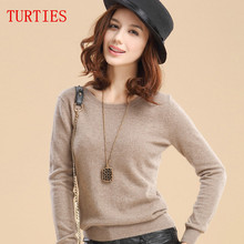 Hot selling New arrival women's Sweater Wool Sweater Female round neck pullover Knit Cashmere Sweater cultivating wild(China (Mainland))