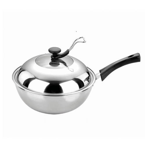 Induction Cooking Pots ~ Stainless steel wok induction flat bottom pot cooking