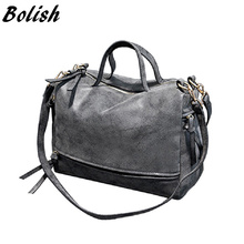 Bolish New Arrive Women Shoulder Bag Nubuck Leather Vintage Messenger Bag Motorcycle Crossbody Bags Women Bag(China (Mainland))