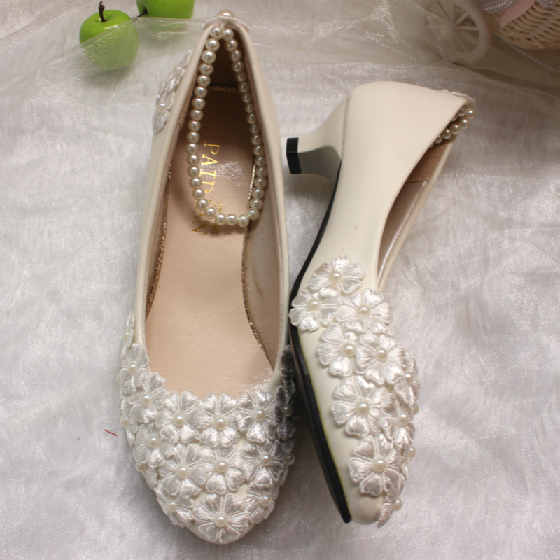 Ivory Wedding Shoes Office Shoes Bridesmaid Bridal PARTYproms Evening Parties Dance Pumps