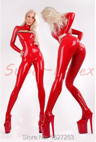 Latex catsuit with socks open chest latex bodysuit rubber bodies back crotch zipperОдежда и ак�е��уары<br><br><br>Aliexpress