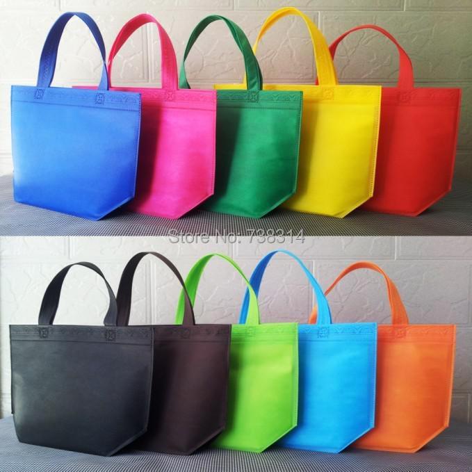 52015 new Promotional bags Non-woven shopping Green Handbag mixing color 33*26*10cm fashion Environmentally - Shopping bags`s Supermarket store