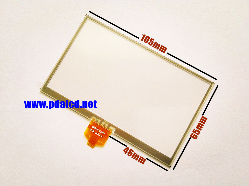 """Wholesale"""" New 4.3"""" 4 wire Resistance Touch screen for TomTom XL 4ET03 Touch screen digitizer panel replacement Free shipping(China (Mainland))"""