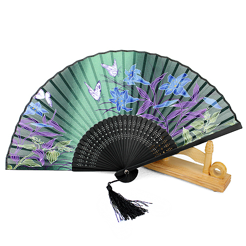 (100pc/lot) Japanese-style Wedding Decoration Silk Folding Fan Practical Party Supplies Hand Fan free shipping of folding(China (Mainland))
