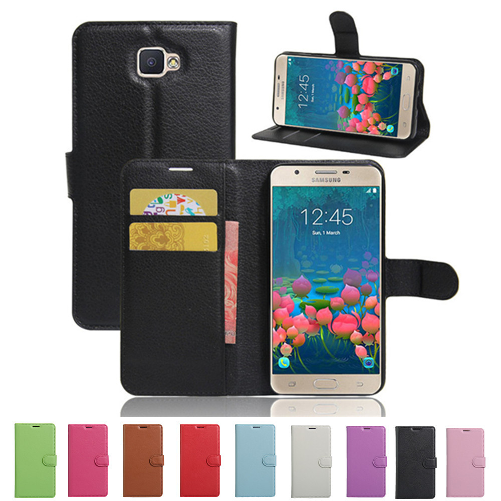 Samsung J5 Prime SM-G570F Case Luxury PU Leather Back Cover Galaxy Duos G570F Phone Bag Skin  -  ShenZhen FengPei 3C Digital Store store