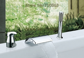 2012 New Arrival !  Wholesale Bathroom Mixer Faucet Chrome Widespread Basin Faucet - Free Shipping (M-8002-1)