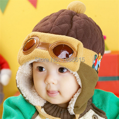 Autumn day Lei Feng hat baby hat baby ear plush cap knit wool hat winter men and women free shipping(China (Mainland))