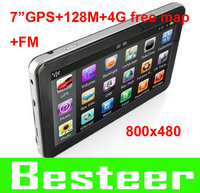 7 inch GPS navigation with 4GB memory 128M RAM + FM, MTK solution HD 800*480 screen System CE 6.0 MTK 468MHZ