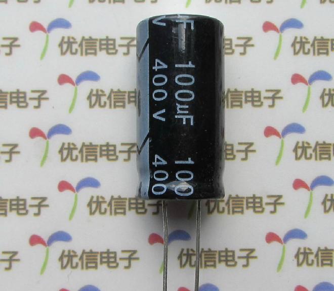 400V 100uF 18*35 DIP Electrolytic capacitors(China (Mainland))