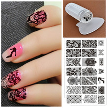 Buy 1pcs Stamp+1 Stamper+1 Scraper Nail Art Square Stainless Steel Plates DIY Polish Templates Nail Tools Nail Stamping Kits for $2.76 in AliExpress store