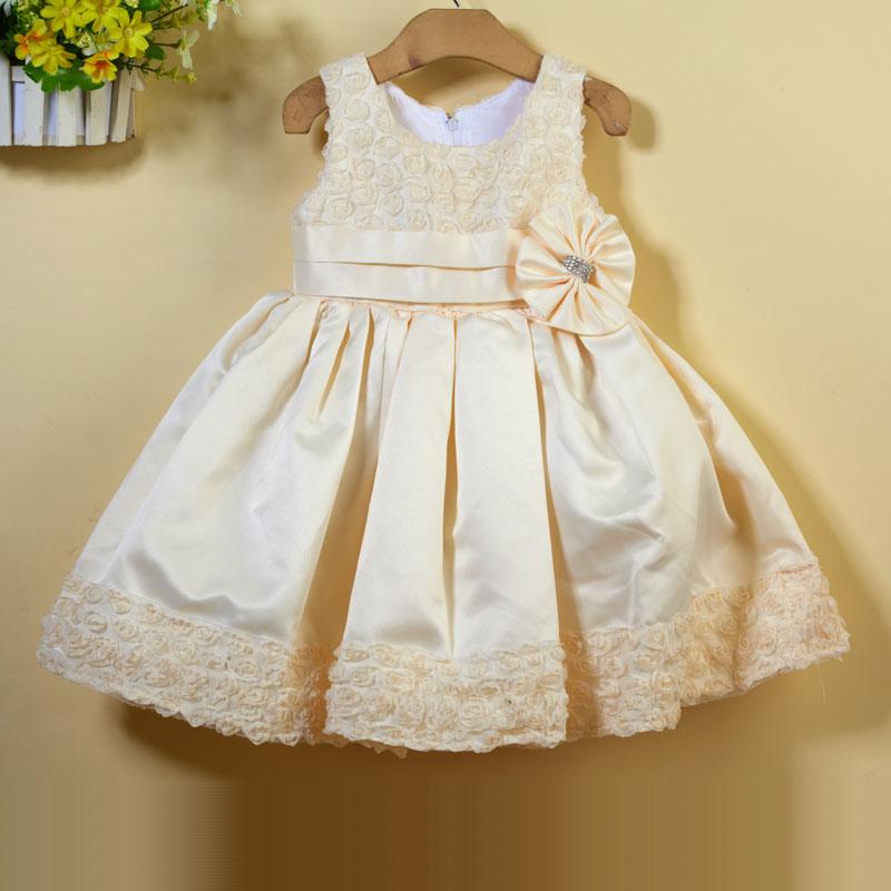 Здесь можно купить  wholesale   girl blue FLOWER dress,kid party dress baby clothing free shipping 6pcs/lot  56-9  Детские товары