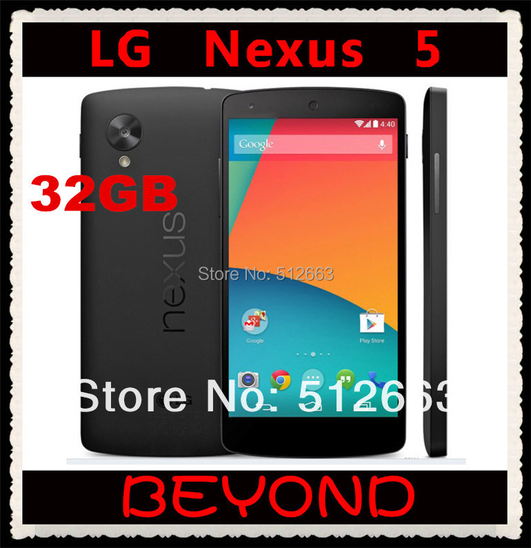 LG Nexus 5 32GB Original Unlocked GSM 3G&4G Android WIFI GPS 4.95'' 8MP Quad-core RAM 2GB D820 / D821 Mobile phone Dropshipping(China (Mainland))