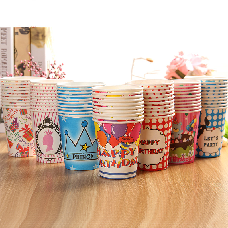 Free Shipping 200pcs Drinking Paper Cups 250ml Disposable Paper Cups Party Events Catering Food Tableware Drink Cup(China (Mainland))