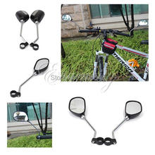 2pcs Bicycle Cycle Mobility Scooter Handlebar rear view Mirror Adjustable Wide Angle large lens Glass 3D Mountain Road Bike