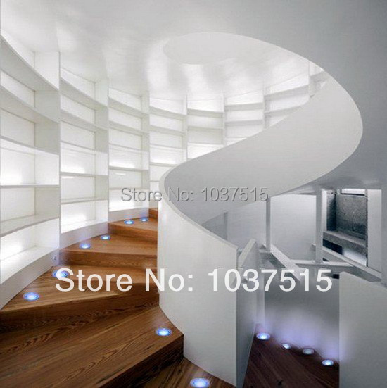 Factory Direct Sale 10Packs 40MM outdoor lighting LED Recessed stair Light Kit 12V DIY :6pc IP67 Night Lights & 8W LED Driver(China (Mainland))