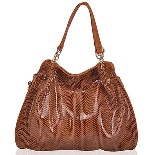 2015 New Fashion messenger bag women handbag Snake pattern leather messenger bag  one shoulder cross-body leather bag