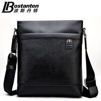 BOSTANTEN 100% GENUINE LEATHER cowhide Shoulder leisure men's bag business messenger portable briefcase Laptop Casual Purse