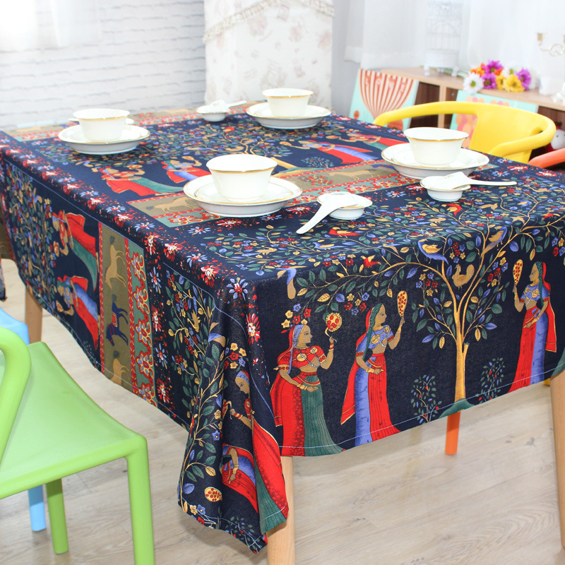 Southeast Asia Pop Style and ethnic style table cloth cotton dining tablecloth(China (Mainland))