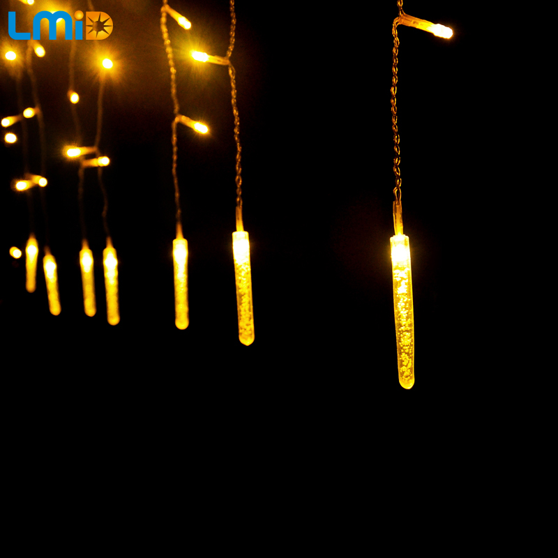 Holiday Lighting 2M 60LEDs LED Lights Garden Decoration Outdoor Fairy Curtain String Light Christmas Lamps Icicle Xmas Party(China (Mainland))