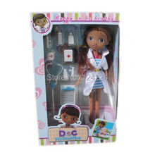 "Cartoon 10 ""doc mcstuffins clinica ragazze figure toy doll regalo di natale  (China (Mainland))"
