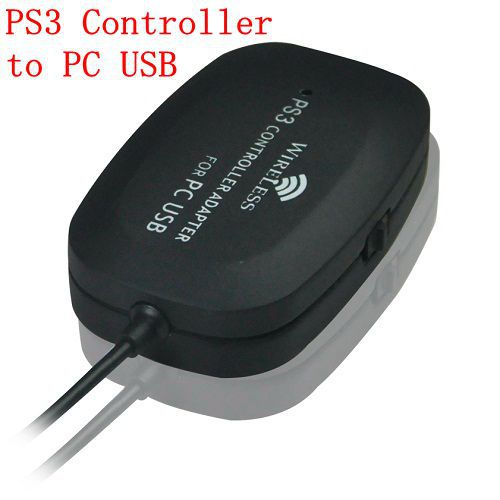 Free Shipping For Wireless Playstation 3 PS3 Controller to PC USB Adapter(China (Mainland))