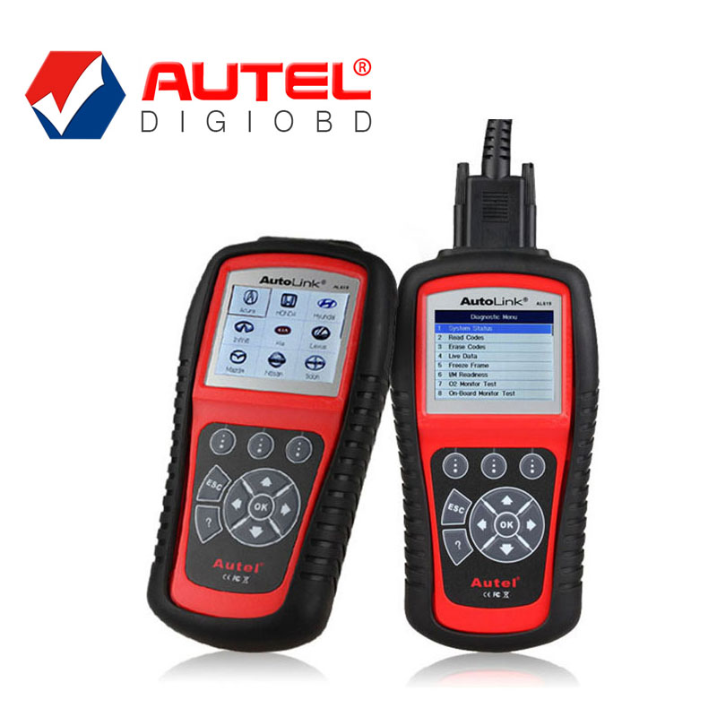 2016 New Original Autel Auto Link AL619 ABS/SRS + CAN OBDII DIAGNOSTIC SCAN TOOL troubleshooter code reader AL619(China (Mainland))