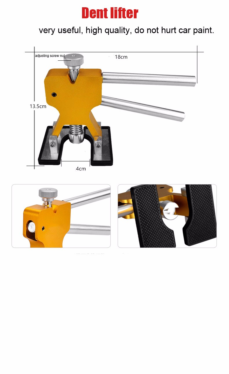 Купить PDR Инструменты Paintless Дент Ремонт Инструменты PDR Клей Вмятина Вкладки Молот Knock Вниз Pen Ручной Инструмент Набор Herramentas PDR Инструментарий