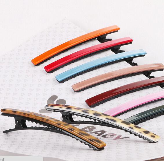 2pcs/lot fashion wedding hair accessories long brief hairpins for women bride girls duck clip for hair barrette(China (Mainland))