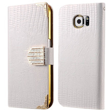 S6 Edge Plus PU Leather Flip Wallet Case For Samsung Galaxy S6 Edge Plus Bling Rhinestone Luxury Coque For Samsung S6 Edge Plus