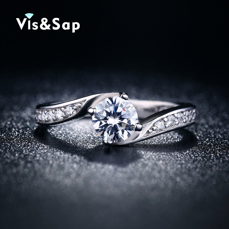 Silver plated cute Rings for Women AAA CZ diamond engagement Wedding gifts ring fashion Jewelry Wholesale Brand design VSR027(China (Mainland))