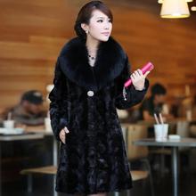 2015 winter fur coat mink fur overcoat female medium-long sable mink fur plus sizes S-4XL Free Shipping(China (Mainland))