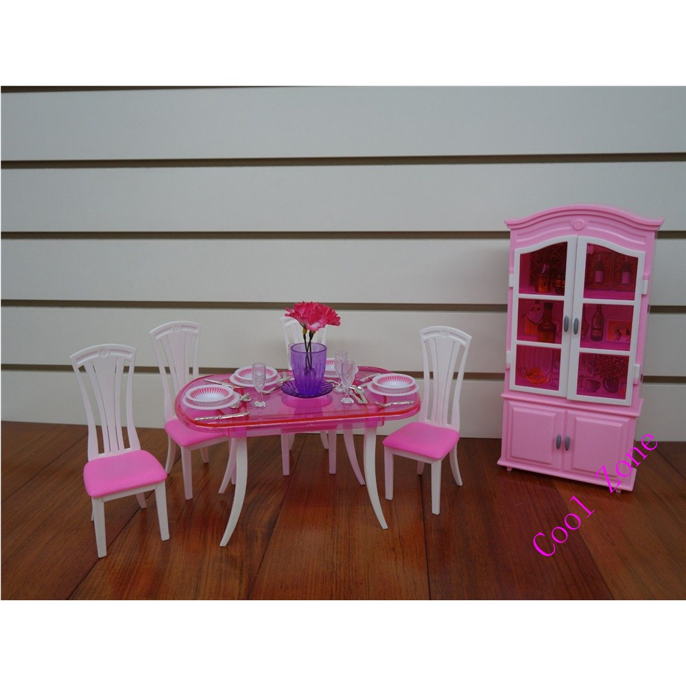 Miniature Furnishings Eating Room-C for Barbie Doll Home Fake Play Toys for Lady Free Delivery